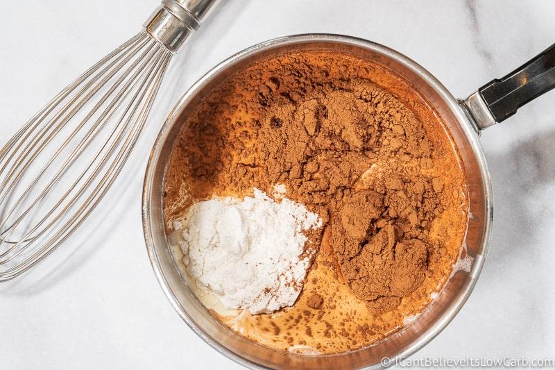 making Keto Hot Chocolate