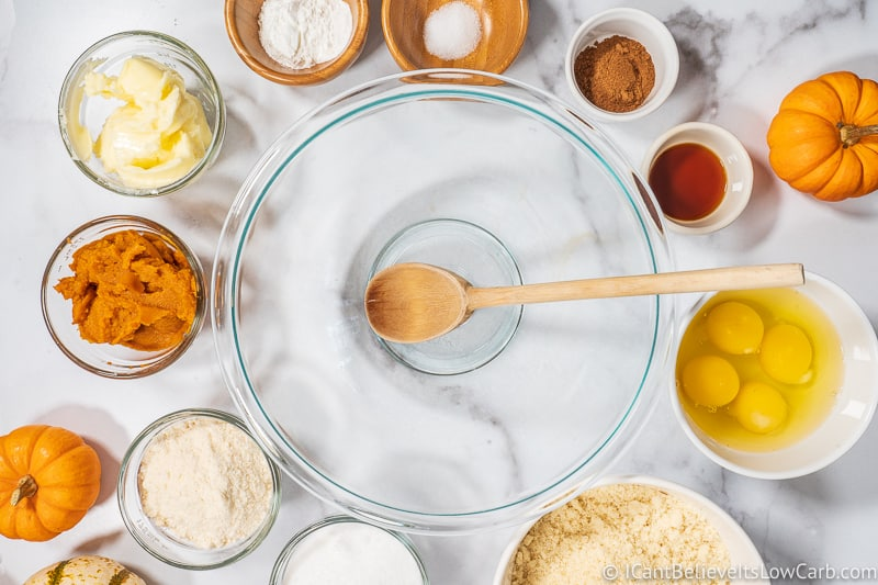 Ingredients for Keto Pumpkin Bread