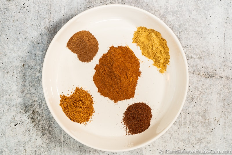 ingredients for Pumpkin Spice