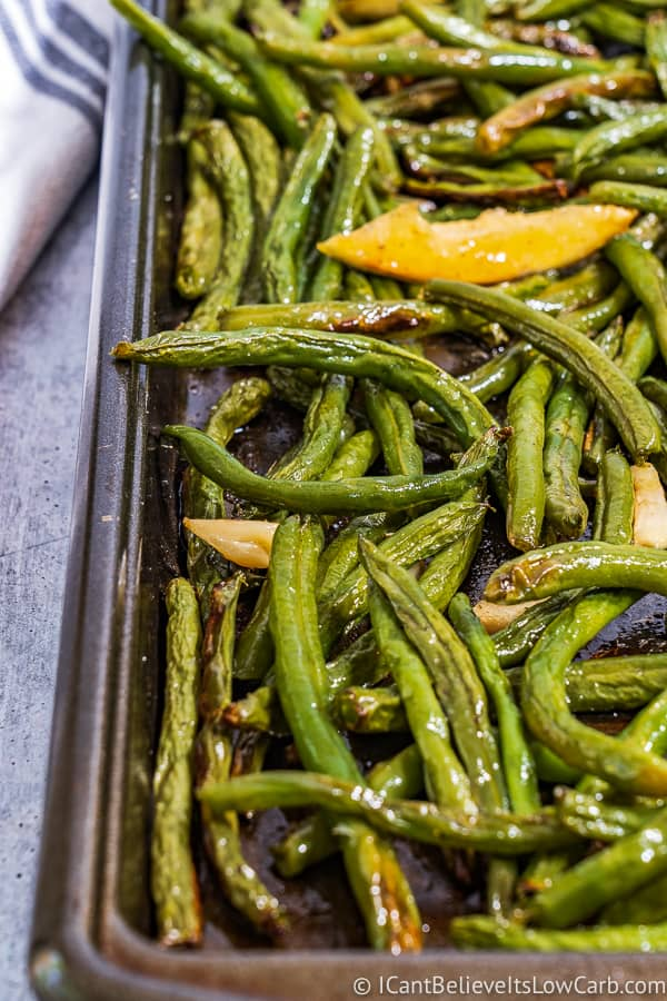 Low Carb Roasted Green Beans