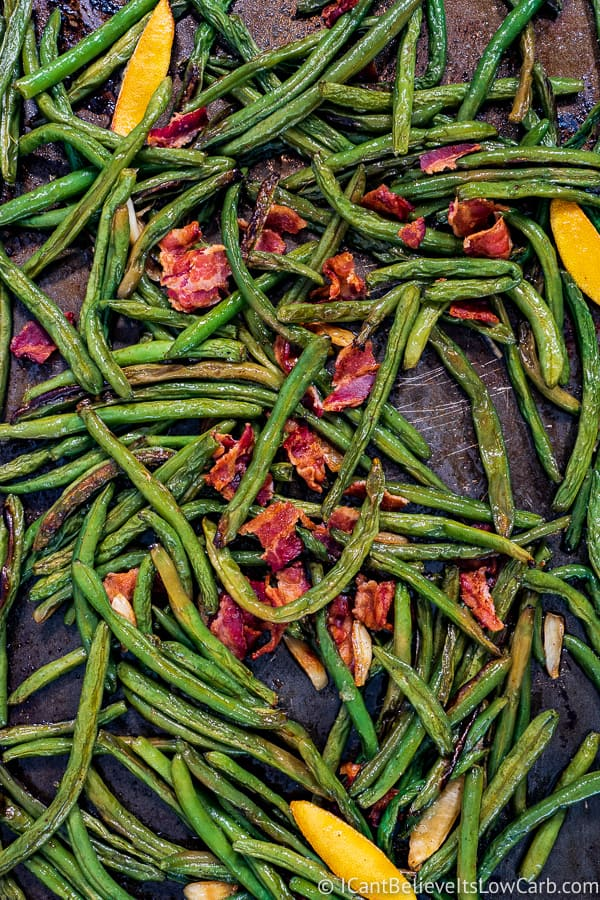 Roasted Green Beans recipe with bacon