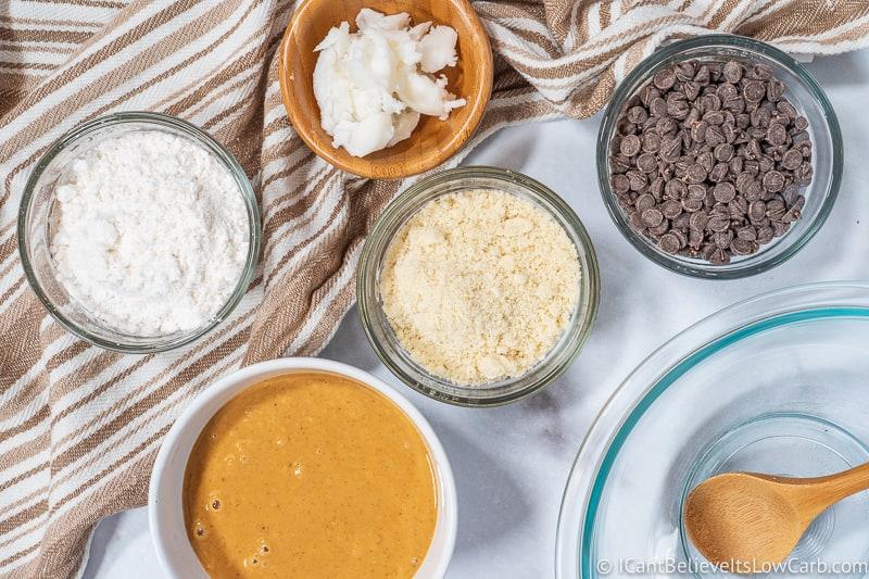 ingredients for Keto Buckeyes