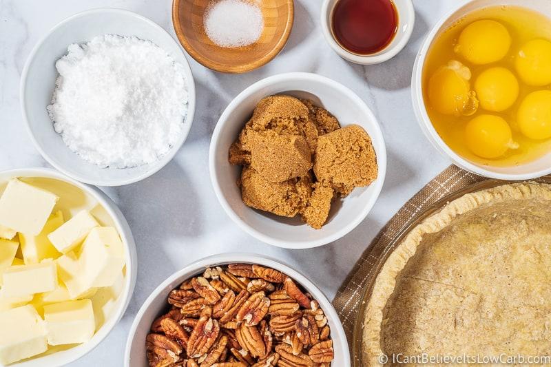 Ingredients for Pecan Pie