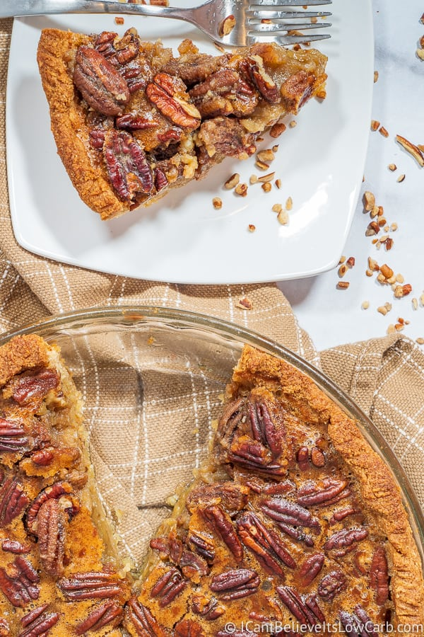Whole homemade Keto Pecan Pie