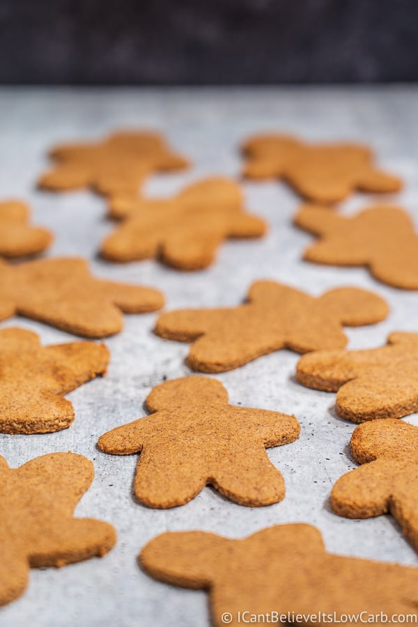 Almond Flour Keto Gingerbread Cookies