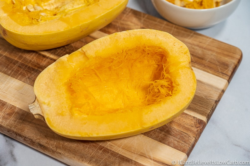 Spaghetti Squash cleaned out