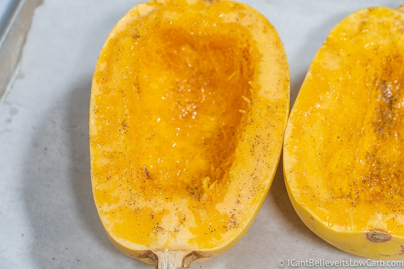put salt and pepper on Spaghetti Squash