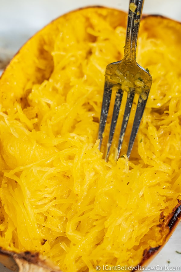 Spaghetti Squash with a fork