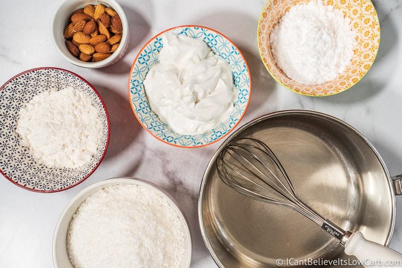 Keto Almond Joy Bars ingredients