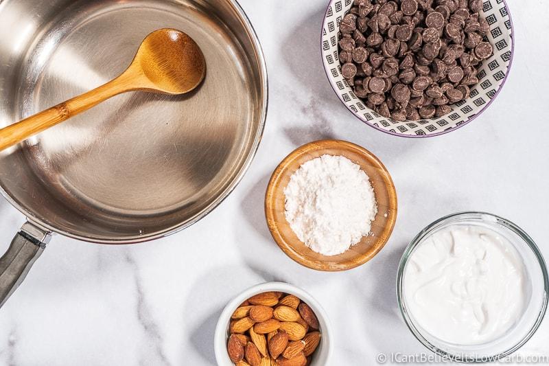 Sugar Free chocolate Almond Joy Bars