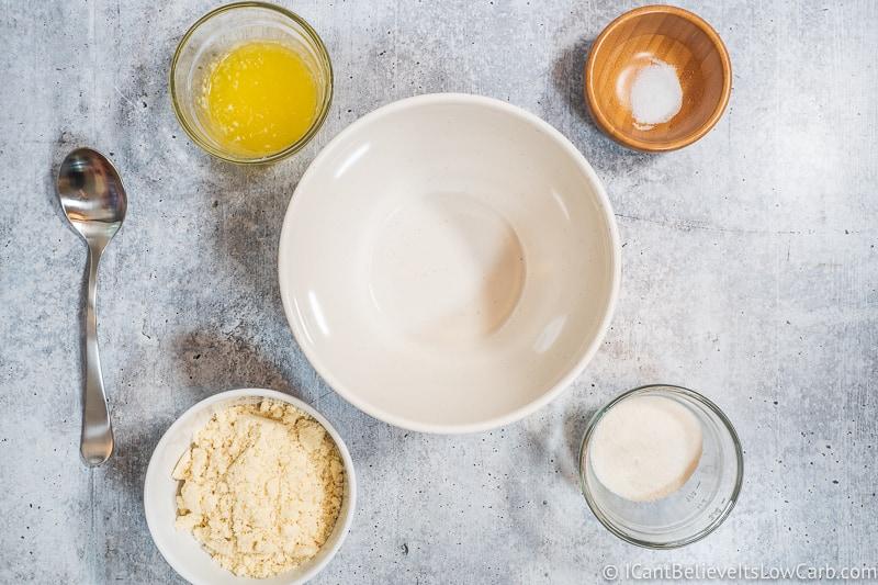 Ingredients for Keto Almond Joy Bars Crust