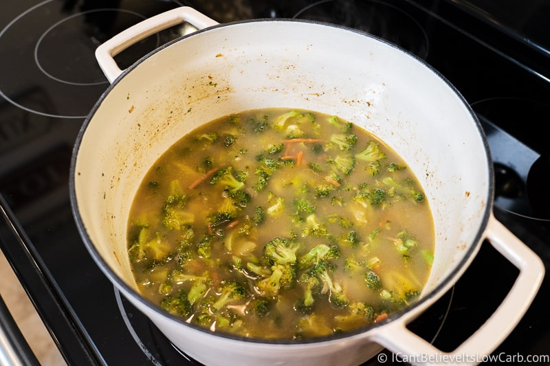 adding brother to Broccoli Cheddar Soup 2