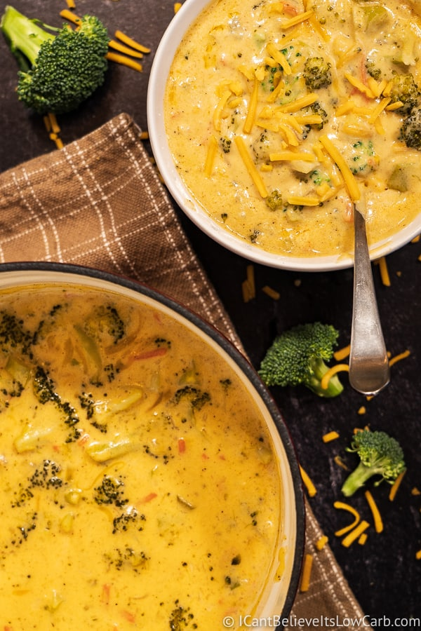 Easy Keto Broccoli Cheddar Soup