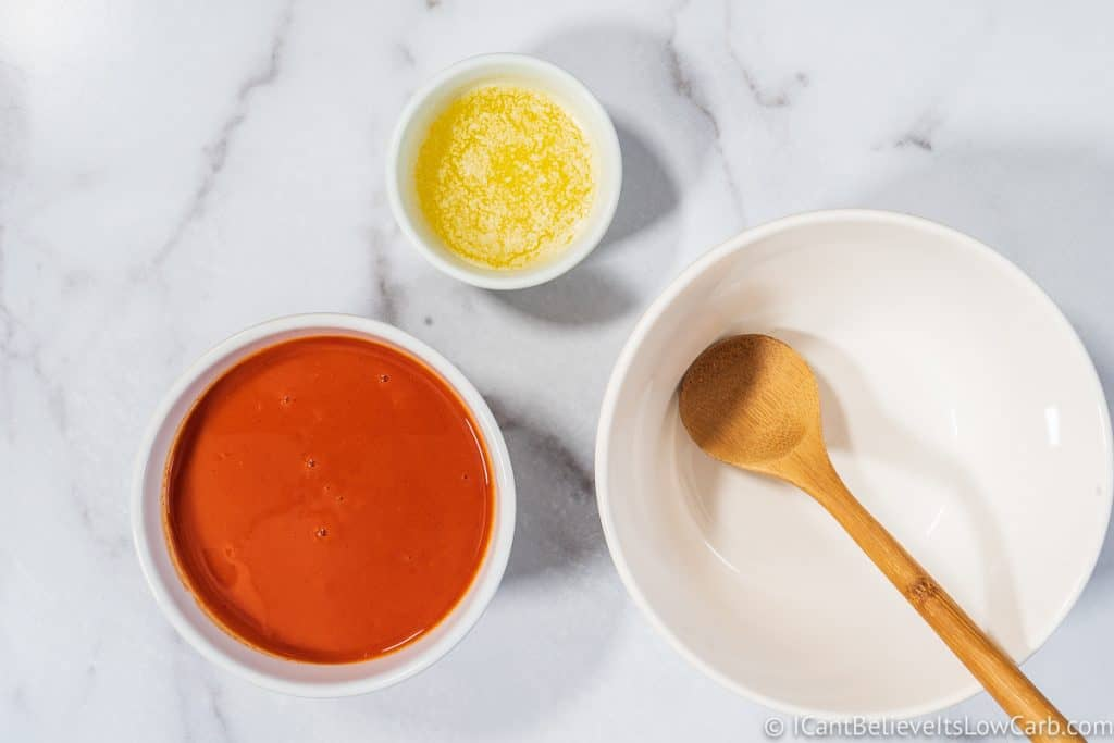 making Buffalo Wing sauce