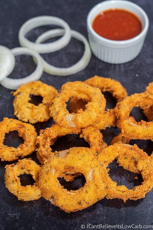Easy to make Keto Onion Rings
