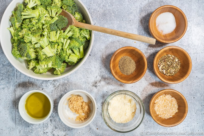 Roasted Broccoli ingredients in bowls