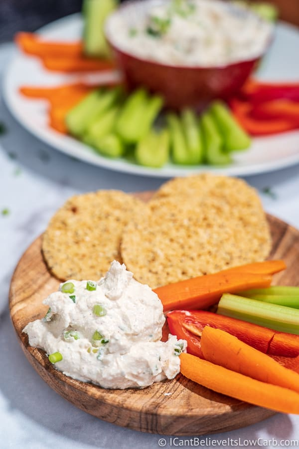 French Onion Dip with veggies