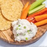French Onion Dip on plate image