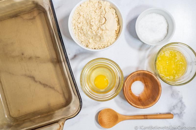Keto Cheesecake Bars Ingredients