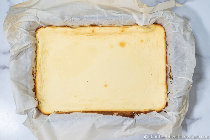 freshly baked Keto Cheesecake Bars