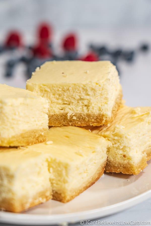 The Best Keto Cheesecake Bars