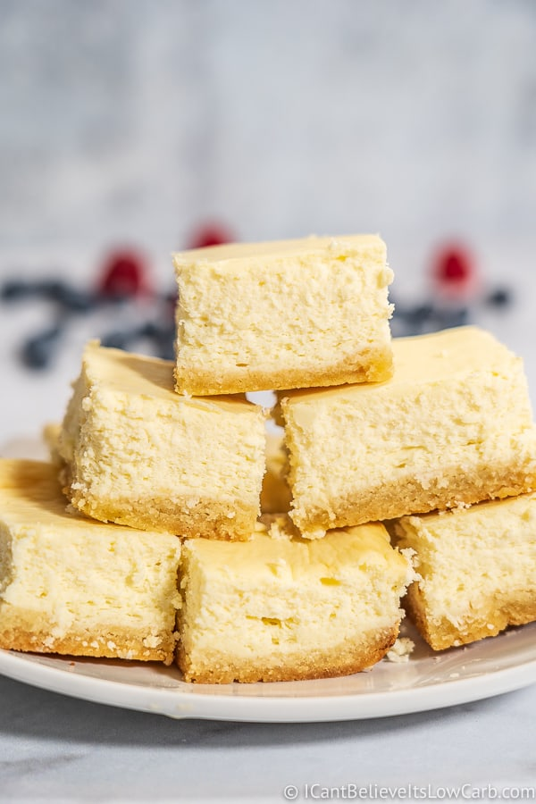 Easy Low Carb Cheesecake Bars