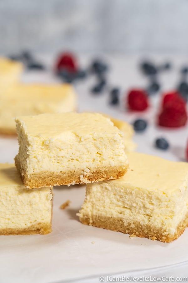 Sugar Free Cheesecake Bars