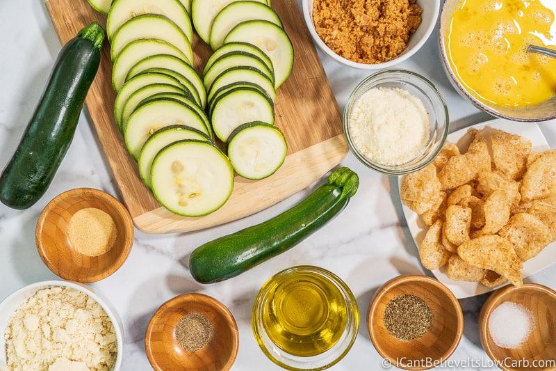 Keto Fried Zucchini ingredients