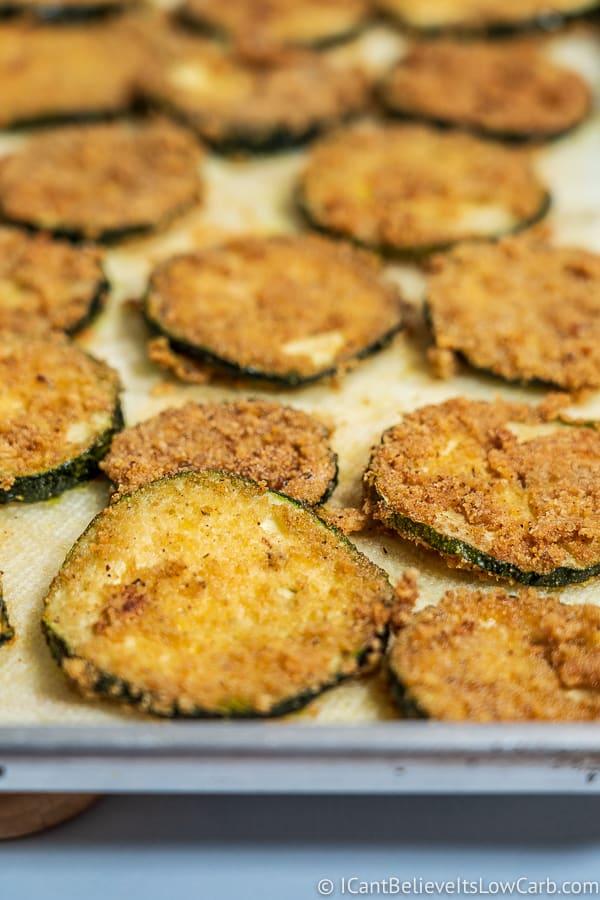 freshly made Keto Fried Zucchini