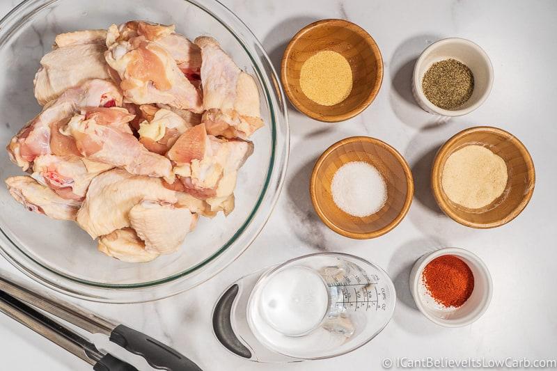 Garlic Parmesan Wings ingredients
