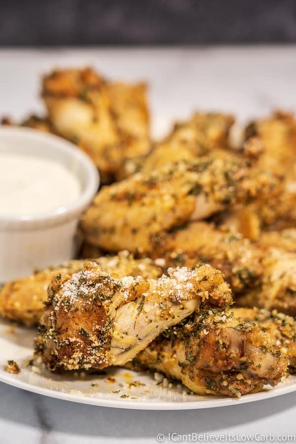 Low Carb Garlic Parmesan Wings