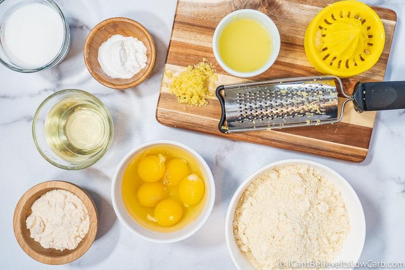 Keto Lemon Pound Cake ingredients