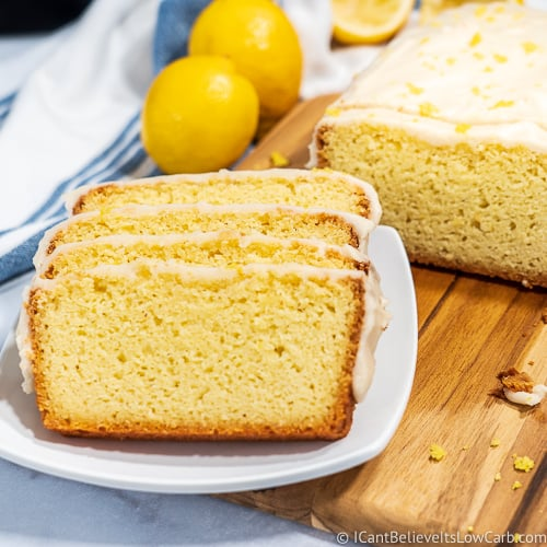 Low Carb Lemon Pound Cake loaf