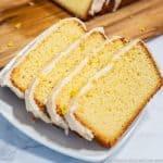 Sugar-Free Lemon Pound Cake loaf