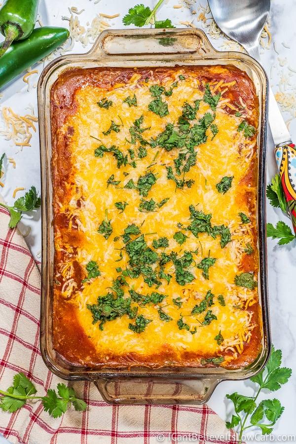 homemade Keto Chicken Enchilada Casserole