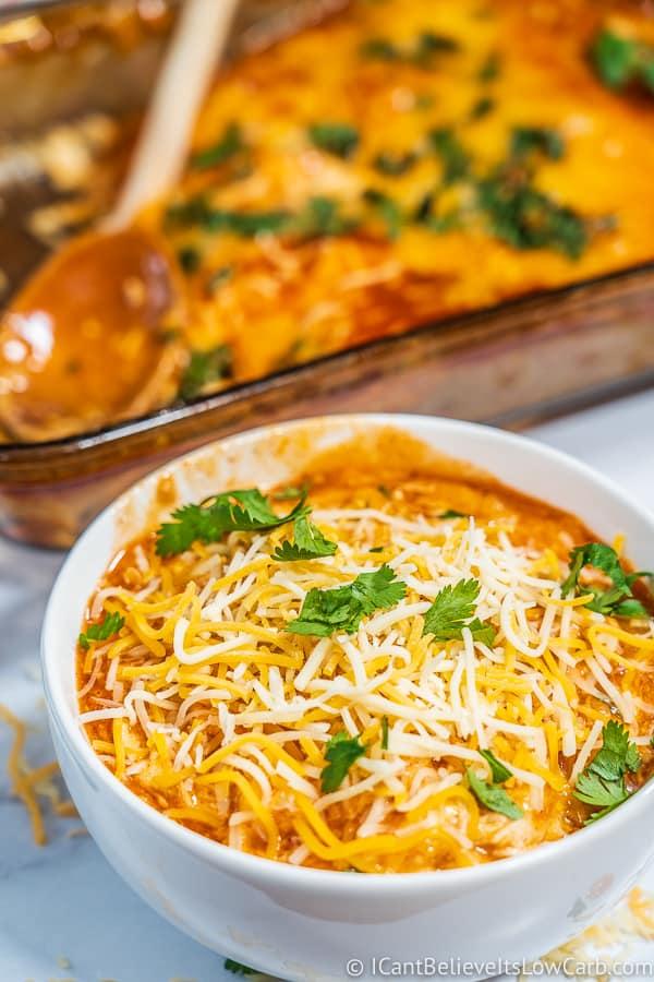 Keto Chicken Enchilada Casserole Recipe