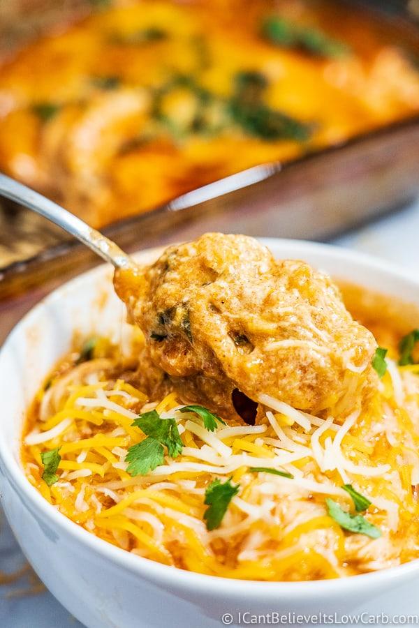 Low Carb Chicken Enchilada Casserole recipe