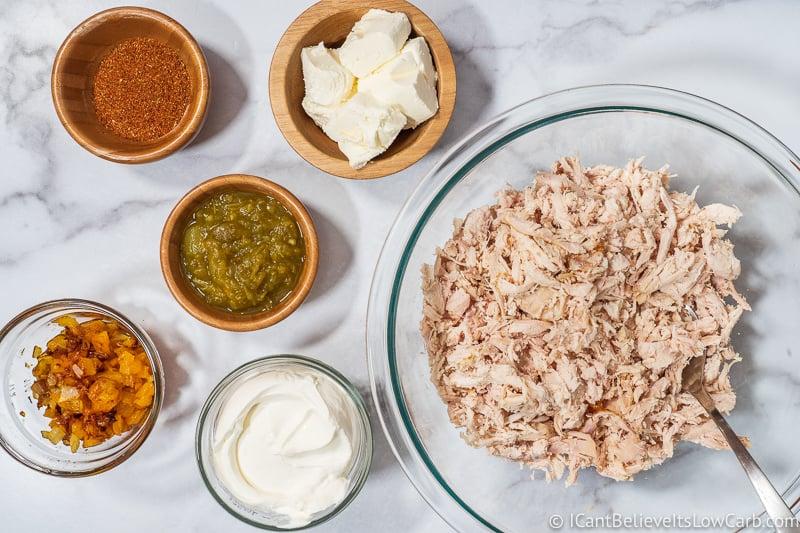 ingredients for Chicken Enchilada Casserole