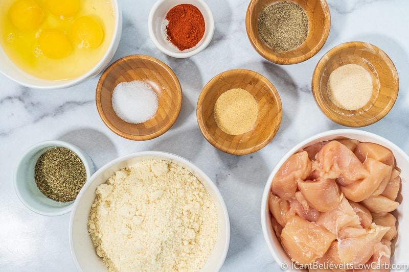 Keto Chicken Nuggets ingredients