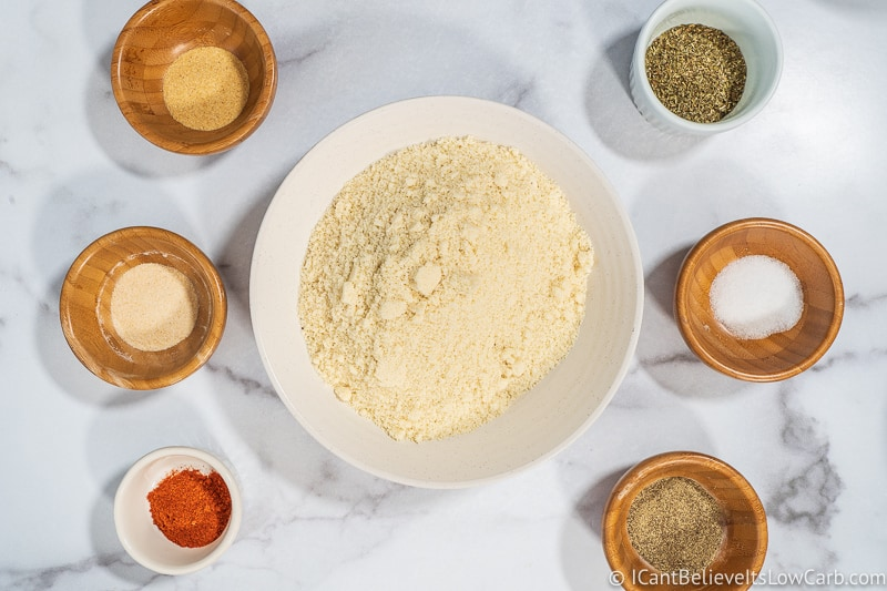 Ingredients for making Keto Chicken Nuggets