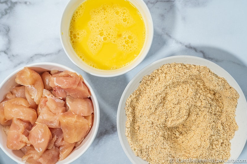 ready to make low carb Chicken Nuggets