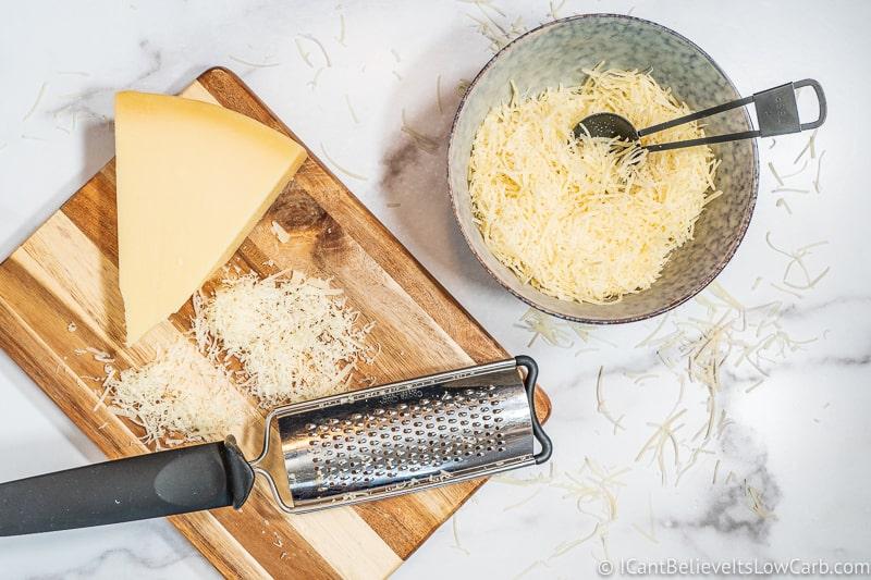 ingredients for Parmesan Crisps