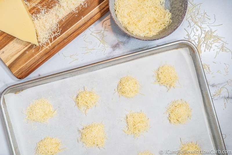 making Parmesan Crisps