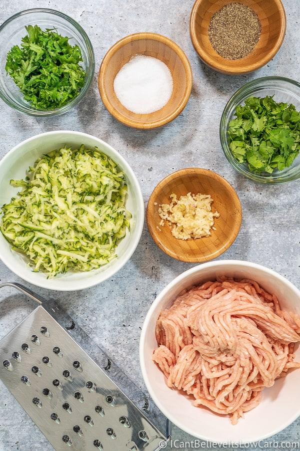 Chicken Zucchini Poppers ingredients
