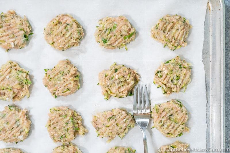 making Chicken Zucchini Poppers Paleo