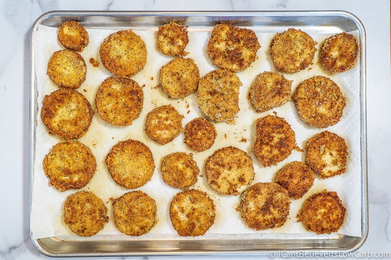 Fried Eggplant on tray after frying