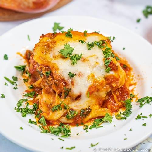 Keto Eggplant Parmesan recipe melanzane parmigiana