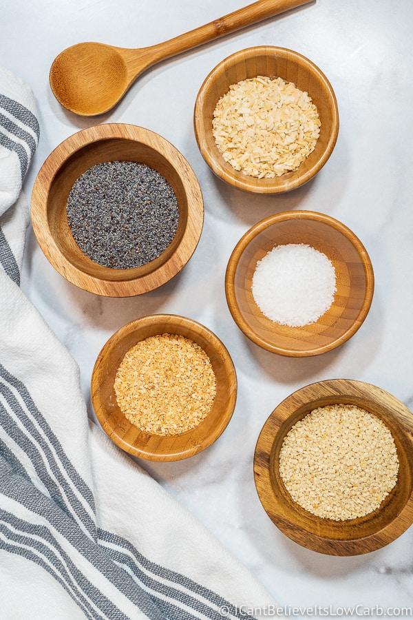 ingredients for Everything Bagel Seasoning