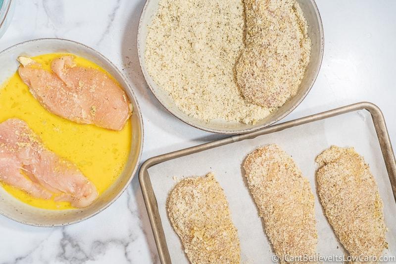 making low carb Chicken Parmesan