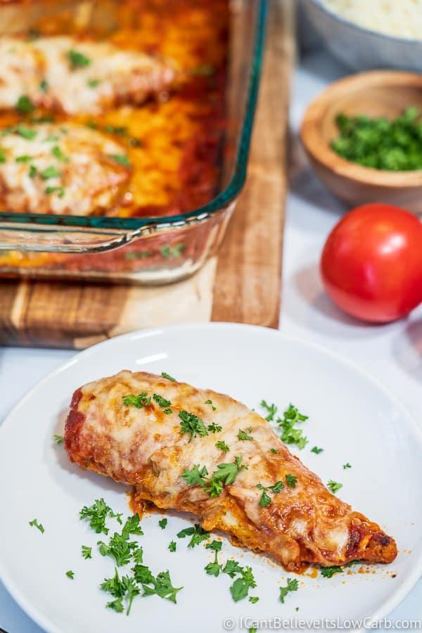 perfect crispy Keto Chicken Parmesan